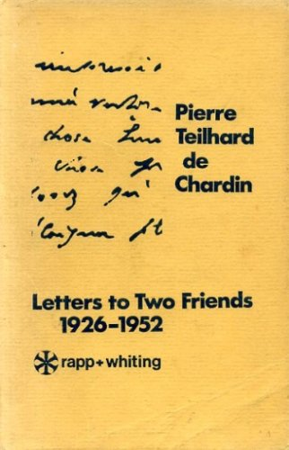 9780853911432: Letters to Two Friends, 1926-52 (New Matrix)