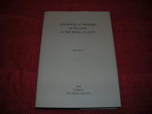 9780854035328: Biographical Memoirs of Fellows of the Royal Society