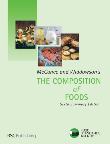 9780854044283: McCance and Widdowson's The Composition of Foods