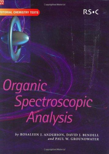 9780854044764: Organic Spectroscopic Analysis: RSC (Tutorial Chemistry Texts)
