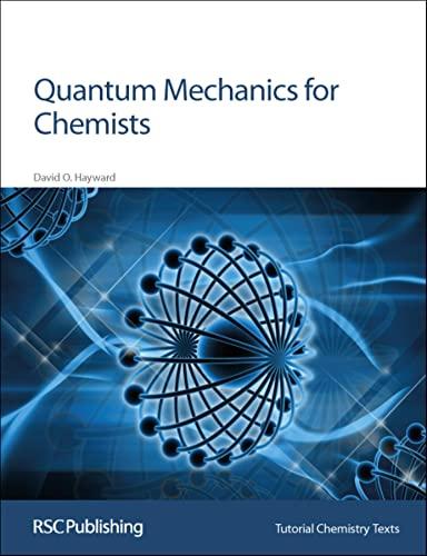 9780854046072: Quantum Mechanics for Chemists: Rsc (Tutorial Chemistry Texts)
