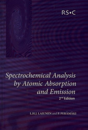 Spectrochemical Analysis by Atomic Absorption and Emission: Lauri H. J.