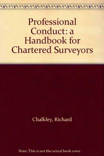 9780854064779: Professional Conduct: Handbook for Chartered Surveyors
