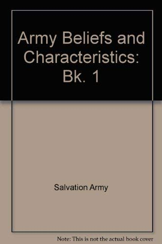 9780854120147: Army Beliefs and Characteristics: Bk. 1