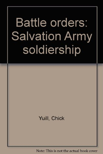 9780854125562: Battle orders: Salvation Army soldiership