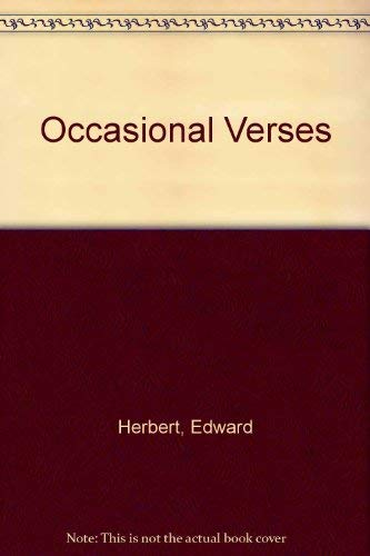 9780854171699: Occasional Verses