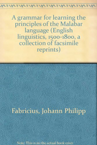 A Grammar for learning the principles of: Johann Philipp Fabricius,