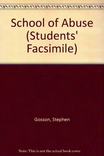 9780854178681: School of Abuse (Students' Facsimile)