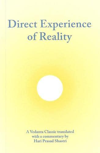 9780854240036: Aparoksanubhuti: Direct Experience of Reality