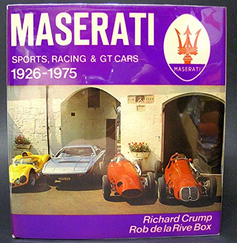 9780854291960: Maserati: Sports, Racing and G.T.Cars, 1926-75