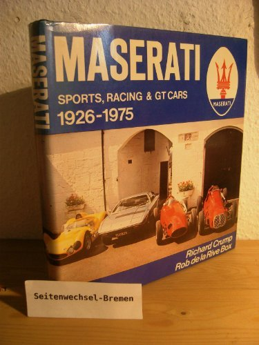 9780854291960: Maserati: Sports, Racing and G.T.Cars, 1926-75