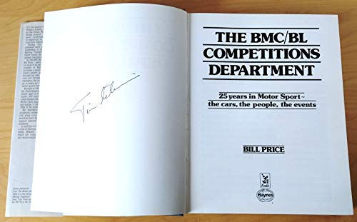 9780854296774: B.M.C./B.L. Competitions Department: 25 Years in Motorsport - the Cars, the People, the Events (A Foulis motoring book)