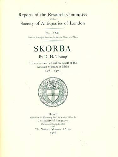 Skorba: A Neolithic Temple in Malta (Research: Trump, D.H.