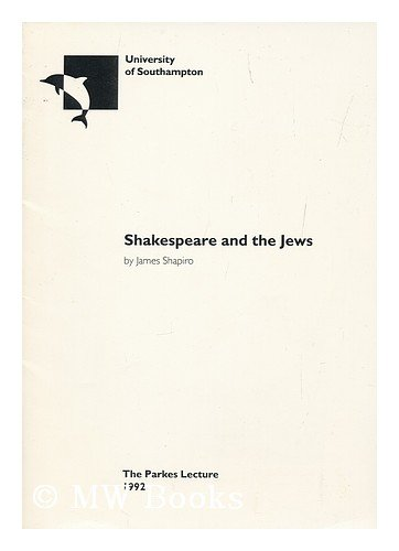 9780854324392: Shakespeare and the Jews