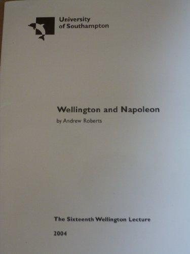 9780854328215: Wellington and Napoleon (University of Southampton Wellington Lectures)