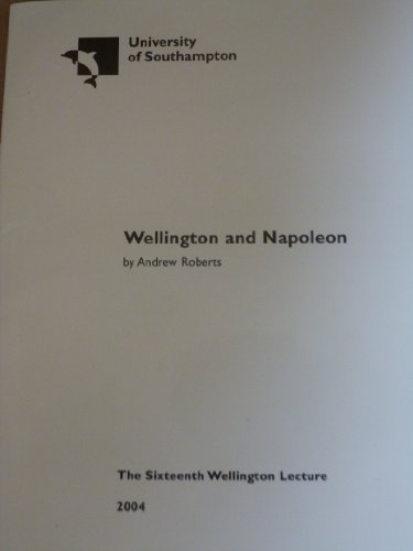 9780854328215: Wellington and Napoleon (University of Southampton Wellington Lectures)