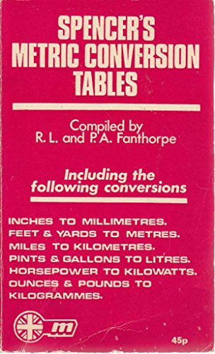 Metric Conversion Tables: Fanthorpe, P.A.