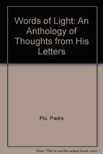 9780854396009: Words of Light: An Anthology of Thoughts from His Letters
