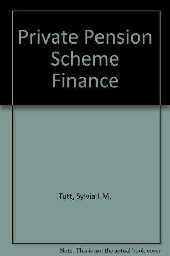 9780854430222: Private Pension Scheme Finance