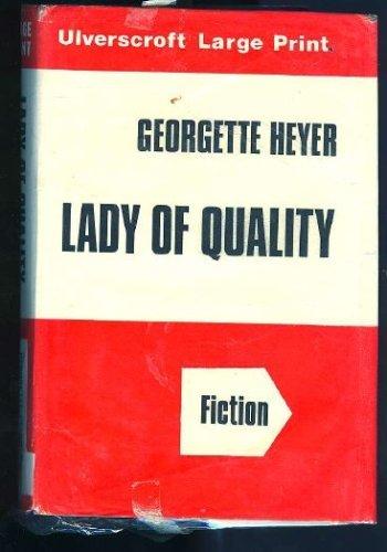 Lady of Quality (9780854565122) by Georgette Heyer