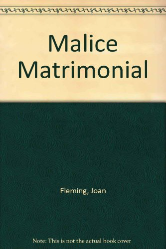 9780854568291: Malice Matrimonial