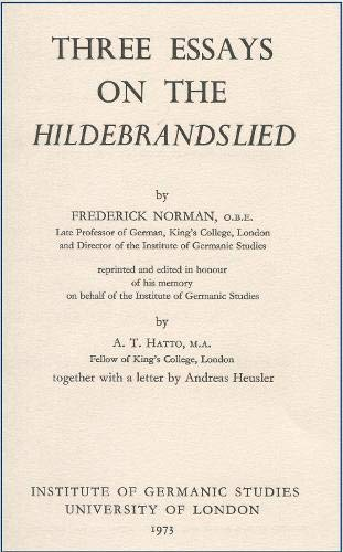 9780854570522: Three Essays on the