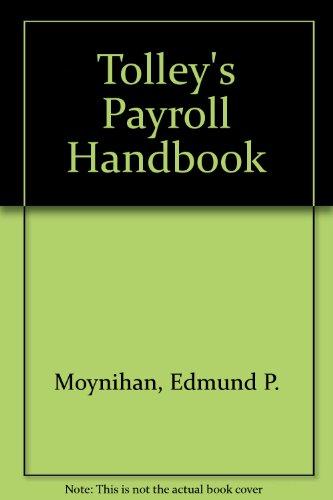 9780854594177: Tolley's Payroll Handbook