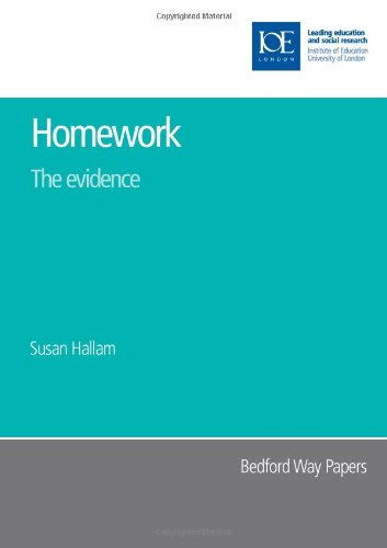 9780854736959: Homework: The Evidence (Bedford Way Papers)