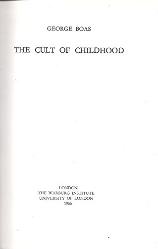 9780854810154: The Cult of Childhood.