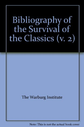 9780854810376: A Bibliography of the Survival of the Classics: Publications of 1932-33 v. 2