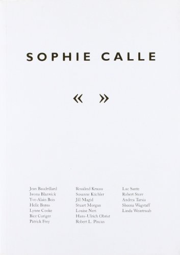 9780854881765: Sophie Calle: The Reader