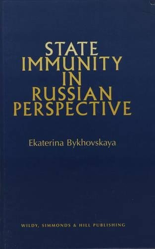 9780854900343: State Immunity in Russian Perspective