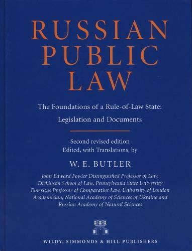 9780854900534: Russian Public Law: The Foundations of a Rule-of-Law State: Legislation and Documents