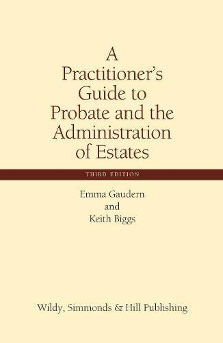 9780854901067: A Practitioner's Guide to Probate and the Administration of Estates