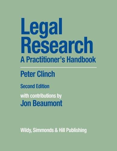 Legal Research: A Practitioner s Handbook (Hardback): Peter Clinch