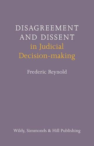 9780854901272: Disagreement and Dissent in Judicial Decision-Making