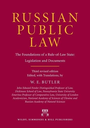 9780854901302: Russian Public Law: The Foundations of a Rule-Of-Law State: Legislation and Documents