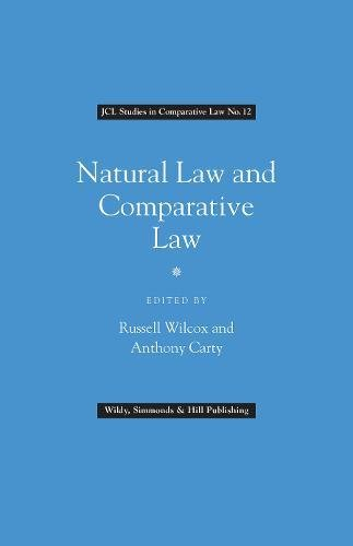 9780854901548: Natural Law and Comparative Law (JCL Studies in Comparative Law)