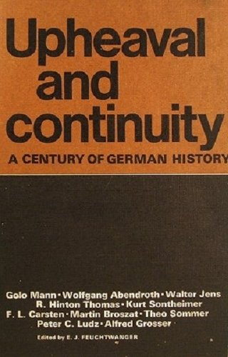 9780854961375: Upheaval and Continuity: Century of German History