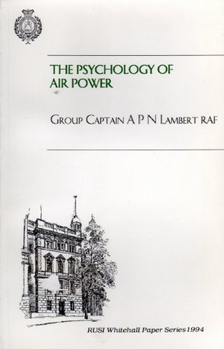 9780855161002: Psychology of Air Power (Whitehall Paper)