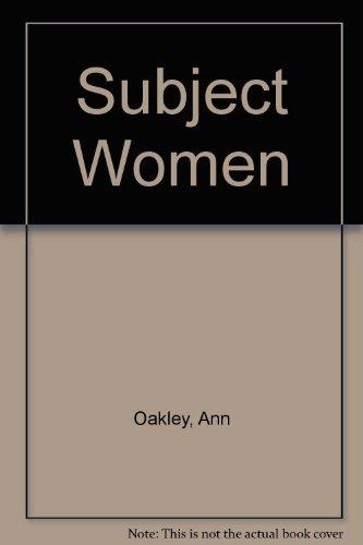 9780855203474: Subject Women