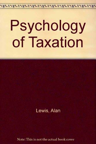 9780855204129: Psychology of Taxation