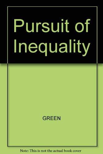 9780855204464: Pursuit of Inequality