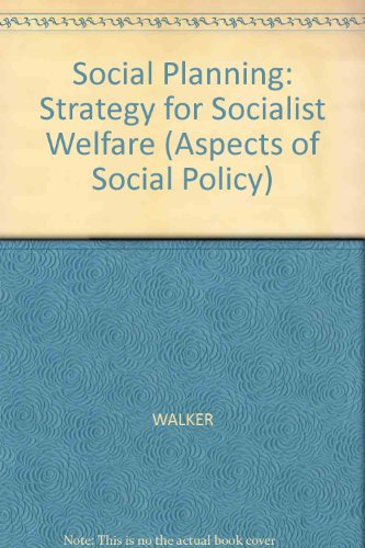 9780855204549: Social Planning: Strategy for Socialist Welfare (Aspects of Social Policy)