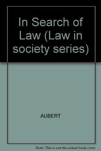 9780855204914: In Search of Law
