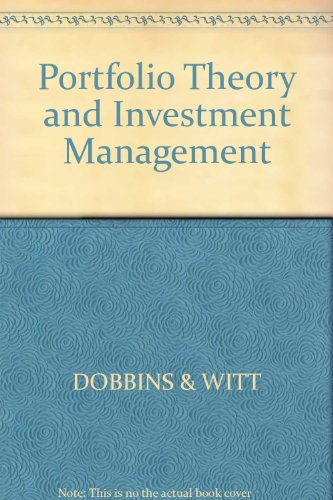 9780855206208: Portfolio Theory and Investment Management