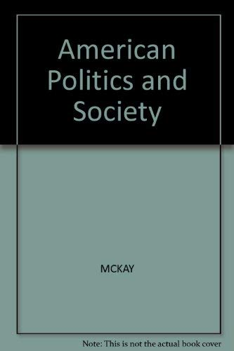 9780855206369: American Politics and Society