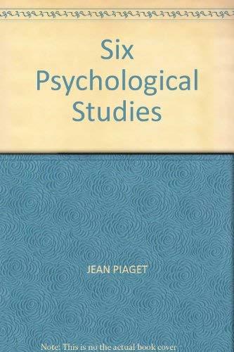 9780855271589: Six Psychological Studies