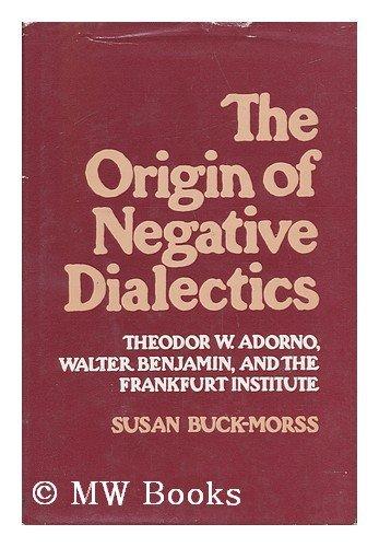 9780855279608: Origin of Negative Dialectics: Theodor W.Adorno, Walter Benjamin and the Frankfurt Institute