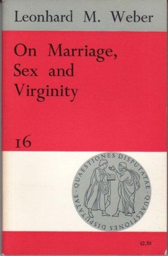9780855321741: On Marriage, Sex and Virginity (Quaestiones Disputatae)